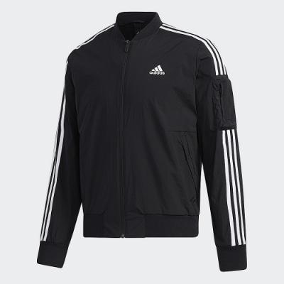 adidas 連帽外套 運動 休閒  男款 黑 GH4802 MH JKT BOMB 3S