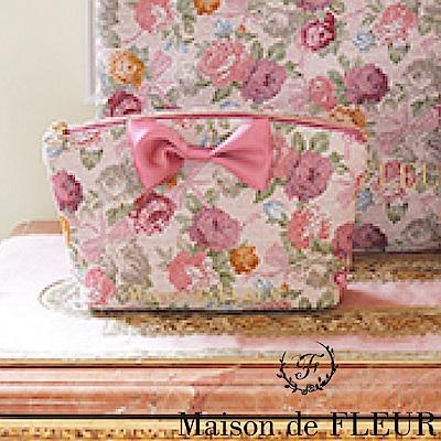 Maison de FLEUR 復古玫瑰花朵蝴蝶結小包包