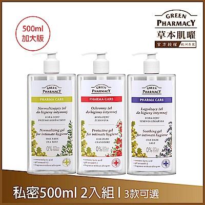Green Pharmacy草本肌曜 熱銷私密加大版 2入組 - 500mlx2