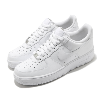 Nike 休閒鞋 Air Force 1 07 運動 男鞋 經典款 AF1 皮革 質感 簡約 穿搭 全白 CW2288111