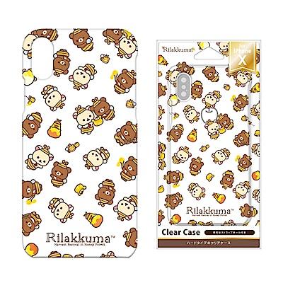 iPhone X 拉拉熊/角落生物 PC/透明/彩繪 硬殼 5.8吋-滿版拉拉熊
