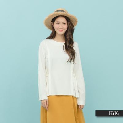 【KiKi】質感百摺長袖-襯衫(二色)