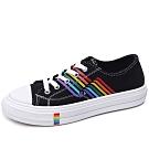 韓國KW美鞋館-虹彩玩色俏皮板鞋-白色(低筒款)