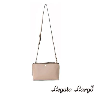Legato Largo 驚異的輕量化 小法式輕便簡約 斜背小方包 杏色