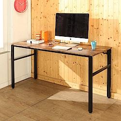 BuyJM低甲醛復古風160公分穩重附插座工作桌-DIY