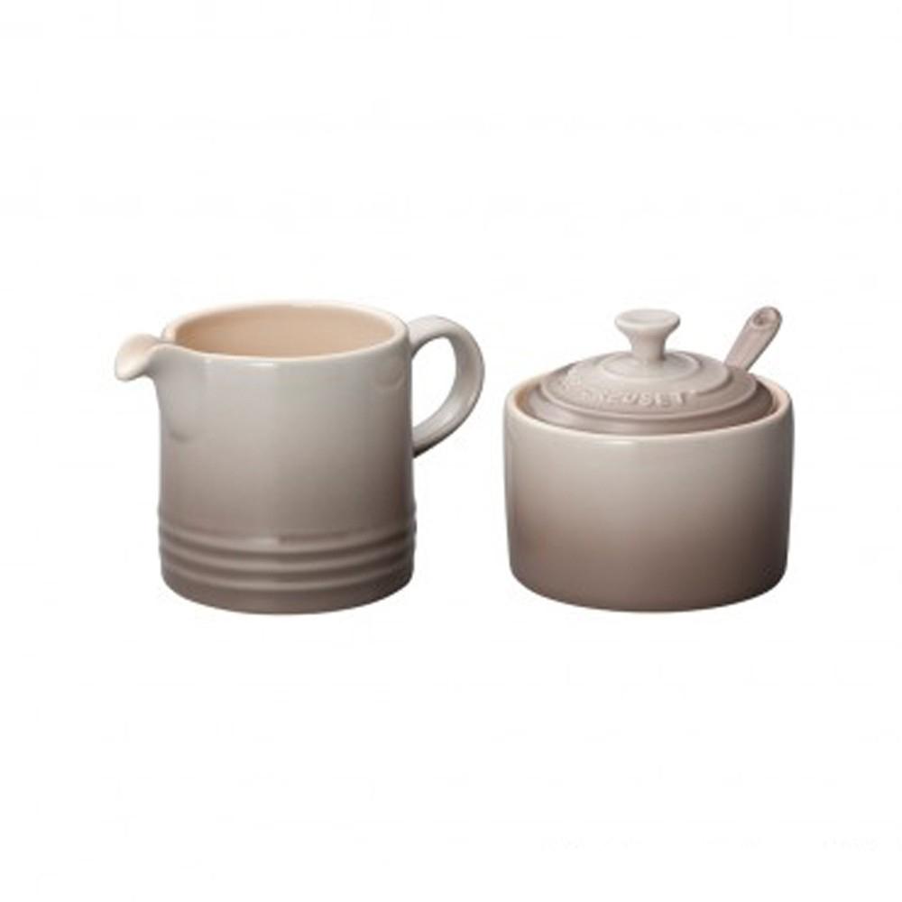 LE CREUSET 瓷器牛奶杯&糖罐組