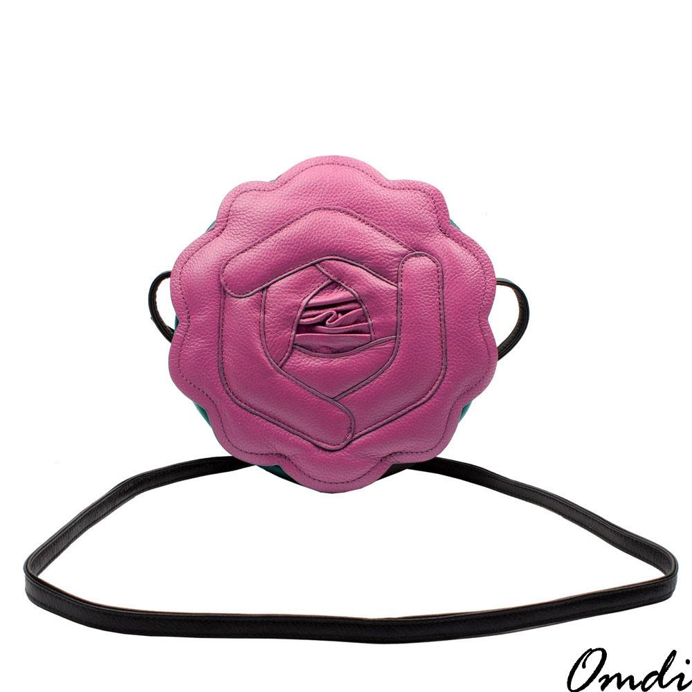 Omdi 精緻玫瑰手提包(桃紫色)