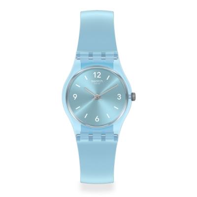 Swatch 原創系列手錶 FAIRY FROSTY 夢幻冰霜藍-25mm