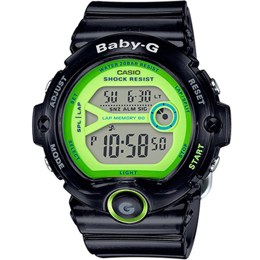 BABY-G 熱血女孩繽紛果凍系列運動錶(BG-6903-1B)-綠色/45mm