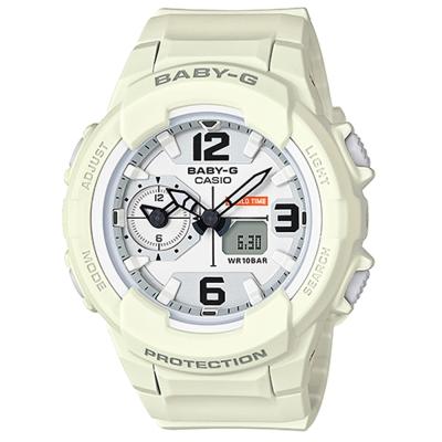 BABY-G 引領潮流系列百變時尚休閒錶(BGA-230-7B2)白面X米白色42.9mm
