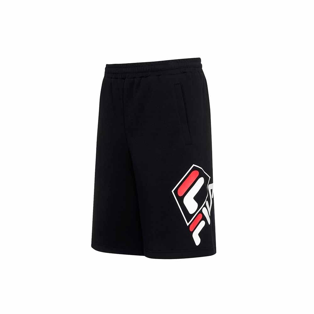 FILA 針織短褲-黑色 1SHU-5453-BK