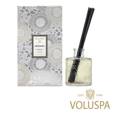 美國香氛VOLUSPA 日式庭園系列 微笑蘭花 浮雕玻璃罐室內擴香100ml