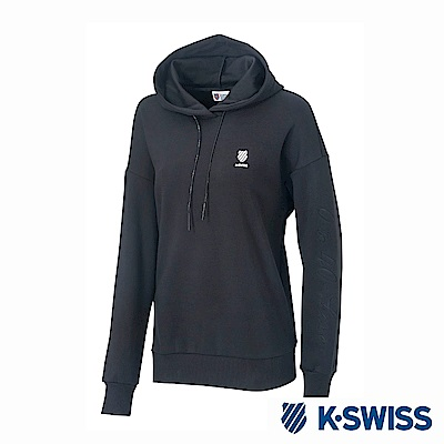 K-SWISS Hooded Sweat Shirts時尚連帽上衣-女-黑