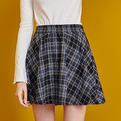 Shester55-鬆緊腰格紋短裙-(兩色)-女【RSH148】