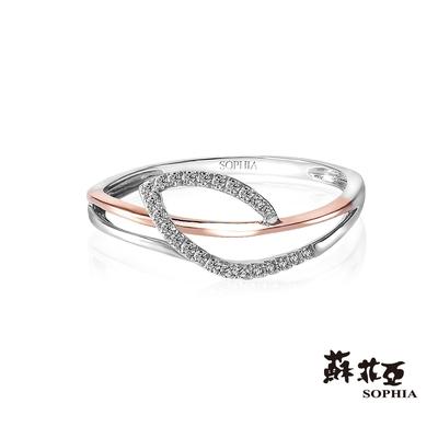 SOPHIA 蘇菲亞珠寶 - 羽蝶 14K雙色(玫瑰金+白K金) 鑽石戒指