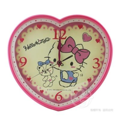 Hello Kitty小熊愛心超靜音掛鐘 JM-W4567KT