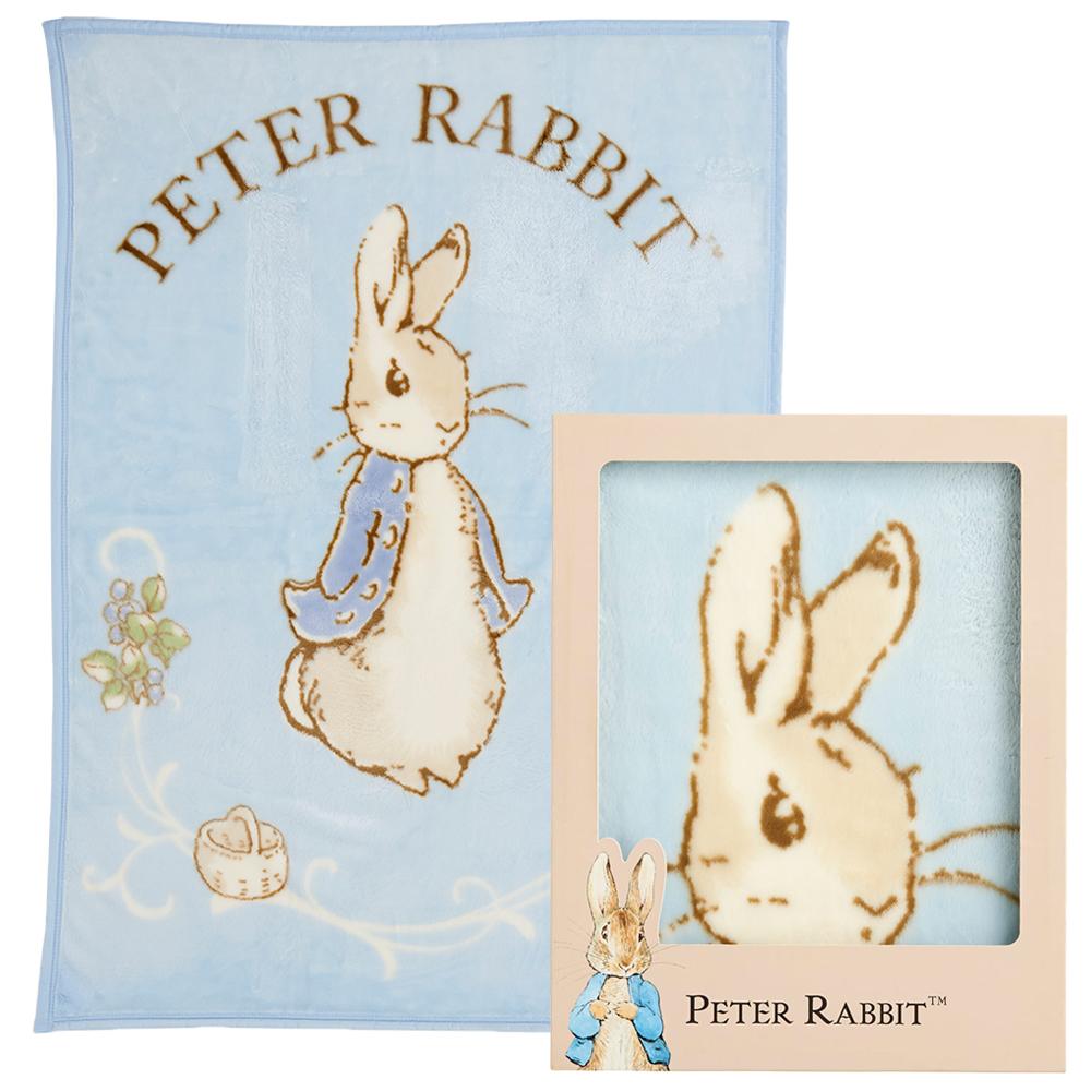 奇哥 比得兔幼兒毛毯禮盒-粉藍(日本製)