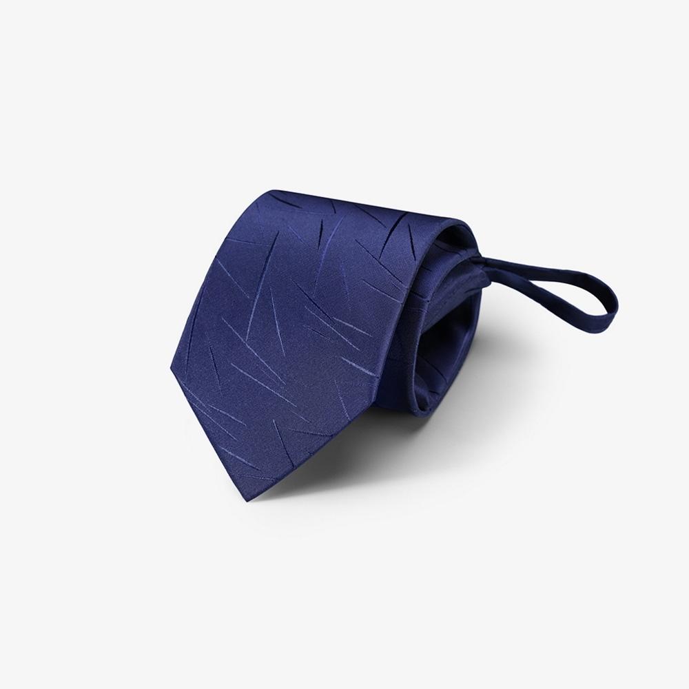 Laifuu拉福,兒童領帶8cm寬版雪片領帶拉鍊領帶(深藍)