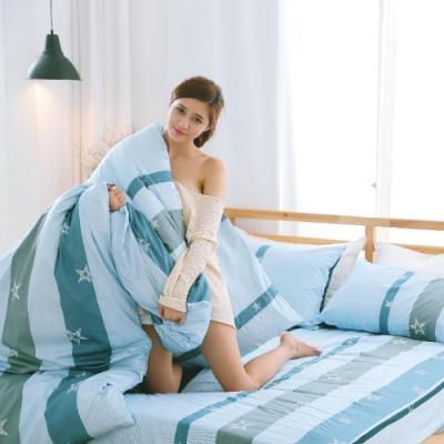 BUHO 雙人加大三件式精梳純棉床包組(星夜派對)