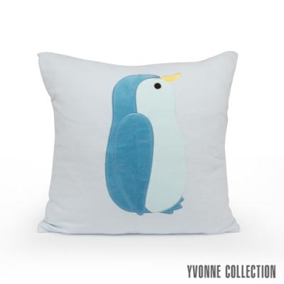 Yvonne Collection 企鵝方形抱枕(45x45cm)-嬰兒藍