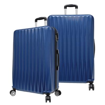RAIN DEER 馬蒂司24吋ABS拉鍊行李箱/旅行箱-藍色