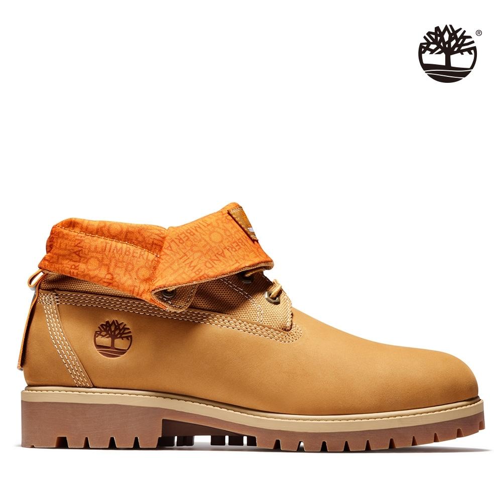 Timberland 男款小麥黃磨砂革翻摺靴|A2DQ6