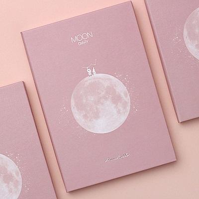 dash&dot Moon diary月亮萬年曆週誌-朝夕粉