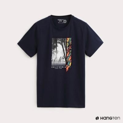 Hang Ten-男裝 加州風情相片短T-深藍