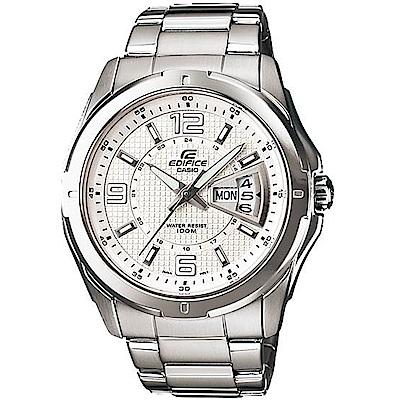 CASIO卡西歐EDIFICE俐落時尚腕錶(EF-129D-7A)-白
