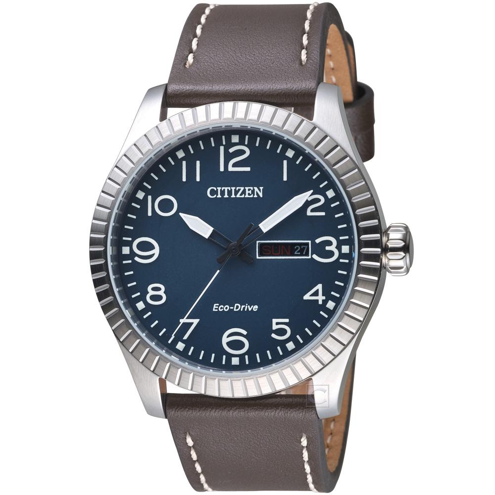 CITIZEN 星辰 GET S復古時尚光動能限量腕錶(BM8530-11L)-藍色