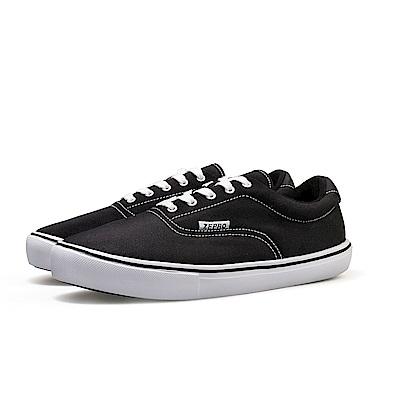 【ZEPRO】男子PD Walker系列簡約時尚休閒鞋-經典黑