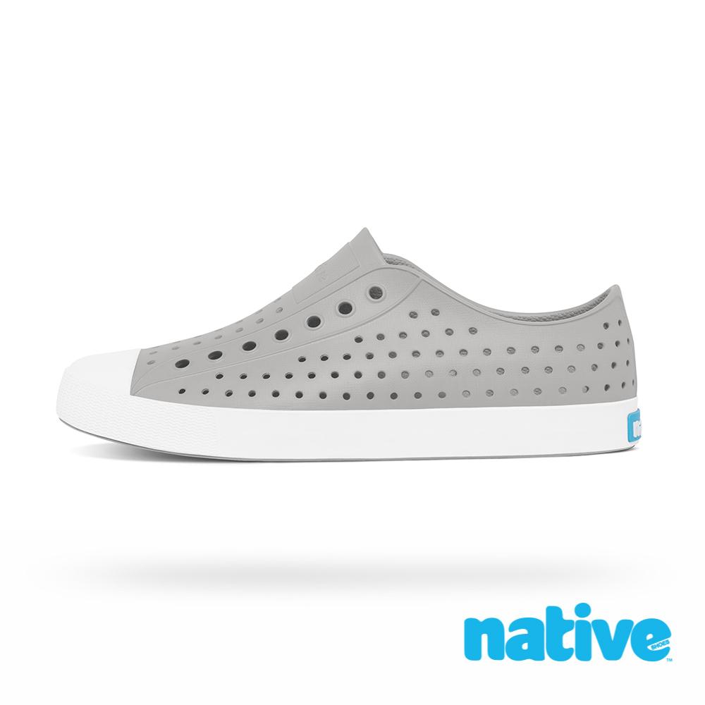 native JEFFERSON 男/女鞋-鴿子灰x貝殼白