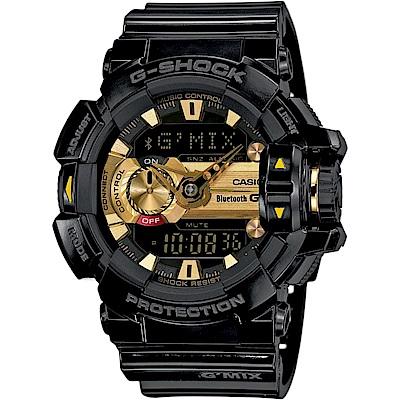 G-SHOCK MIX玩酷生活音樂控制藍芽錶(GBA-400-1A9)-黑x黃時刻/51.