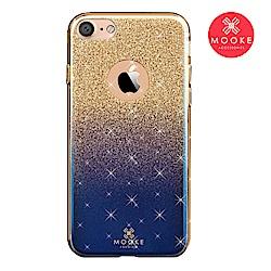 Mooke iPhone 7/8 璀璨琉璃保護殼-星空藍