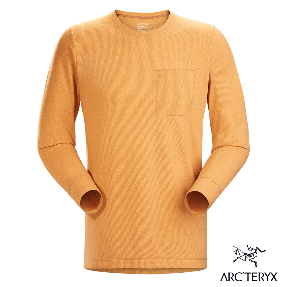 Arcteryx 始祖鳥 男 Sirrus 吸濕排汗 長袖圓領衫 淺領土雜棕