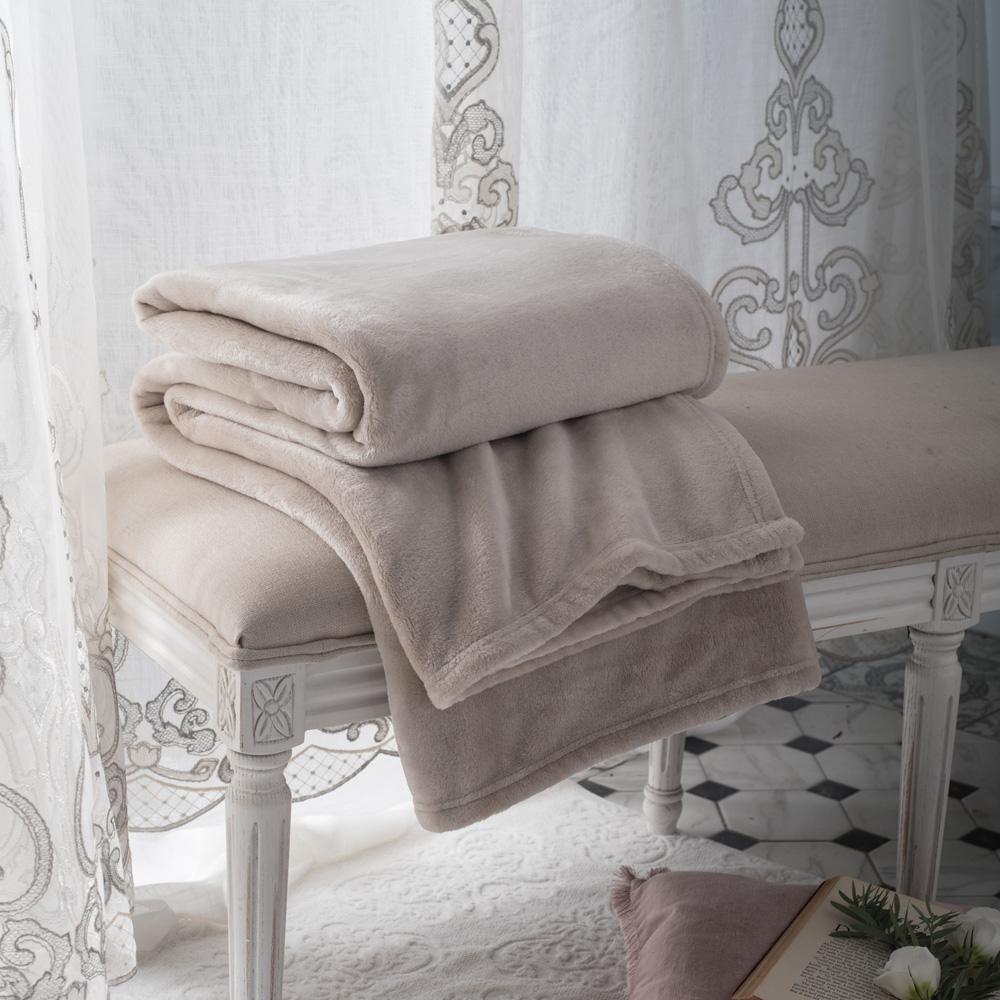 BBL Premium 素色暖意隨行毯(沙漠棕)