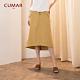 【CUMAR】經典鈕釦造型-長裙(二色/版型適中) product thumbnail 1