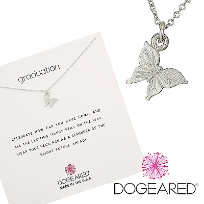 Dogeared 優雅蝴蝶 graceful butterfly 珍惜所有 銀色許願項鍊