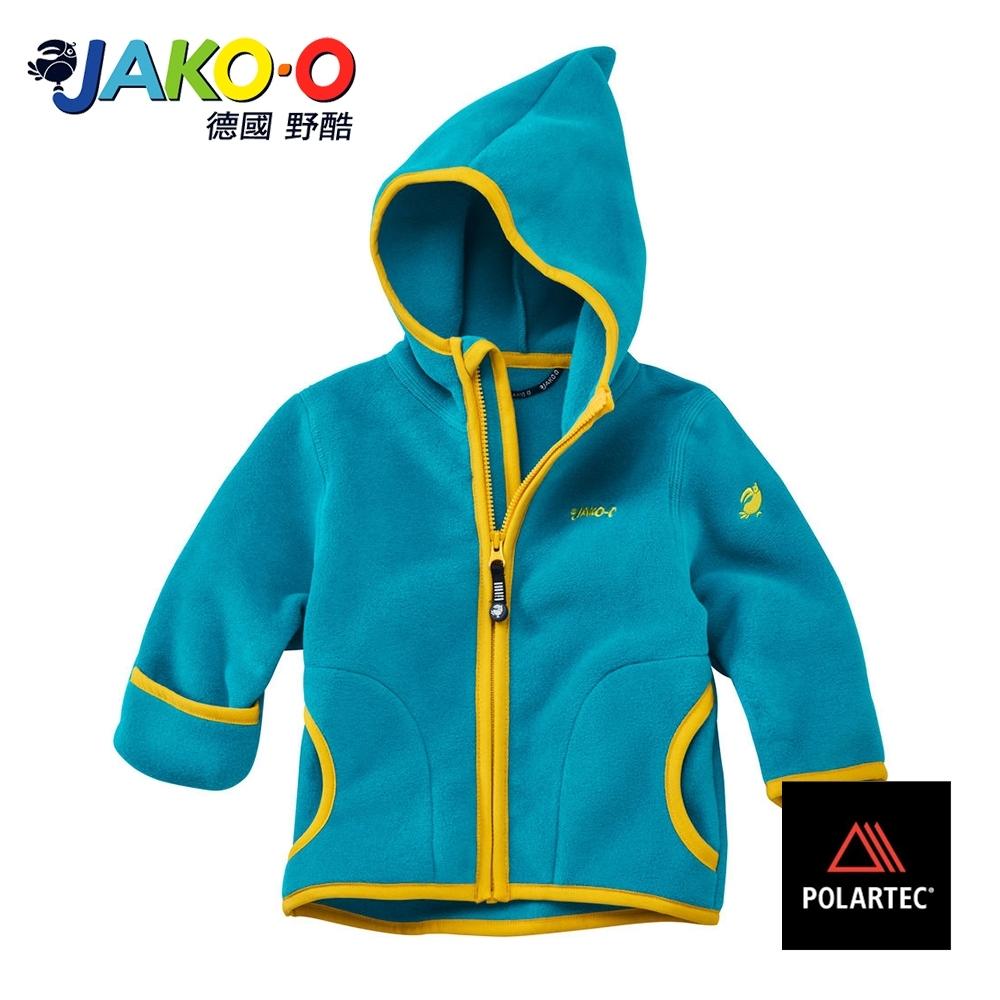 JAKO-O德國野酷-POLARTEC護手保暖連帽外套-水藍  兒童雪衣