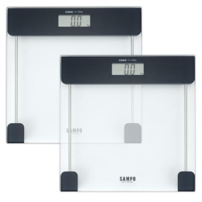 SAMPO聲寶大螢幕自動電子體重計(超值2入組)BF-L1901ML