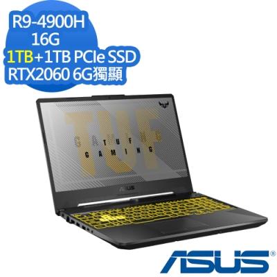 ASUS FA506IV 15.6吋電競筆電 Ryzen 9 4900H/RTX2060 6G獨顯/16G/1TB+1TB PCIe SSD/TUF Gaming/幻影灰/特仕版