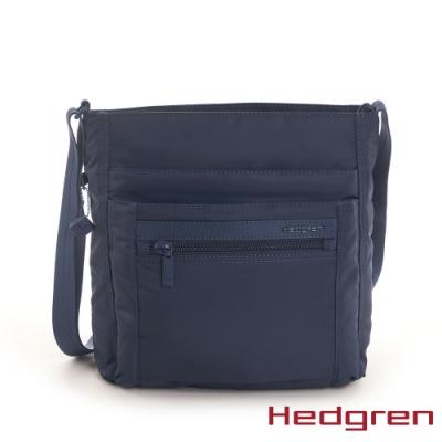【Hedgren】INNER CITY四層收納 側背包-寶藍