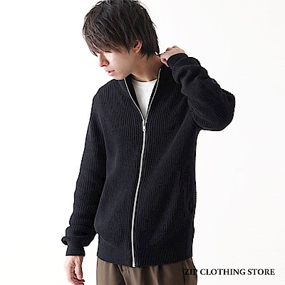 針織拉鍊外套(1色) ZIP日本男裝
