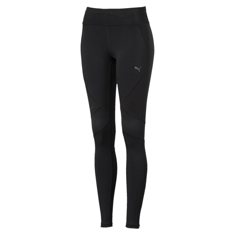 PUMA-女性慢跑系列Run素色緊身褲-黑色-歐規