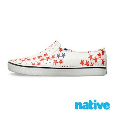 native MILES PRINT 男/女鞋-貝殼白x小星星