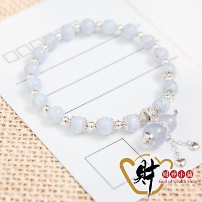 財神小舖 愛戀 葫蘆藍紋瑪瑙 925純銀手鍊-好運藍 (含開光) S-9106-2