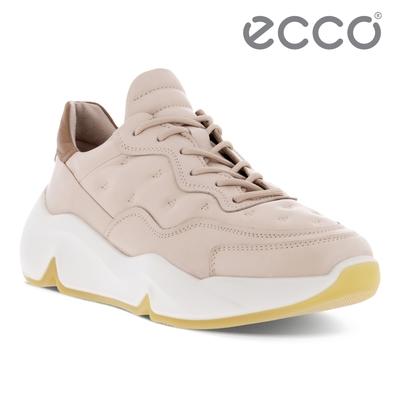 ECCO CHUNKY SNEAKER W 潮趣簡約輕量透氣休閒運動鞋 女鞋 灰粉色/太妃棕
