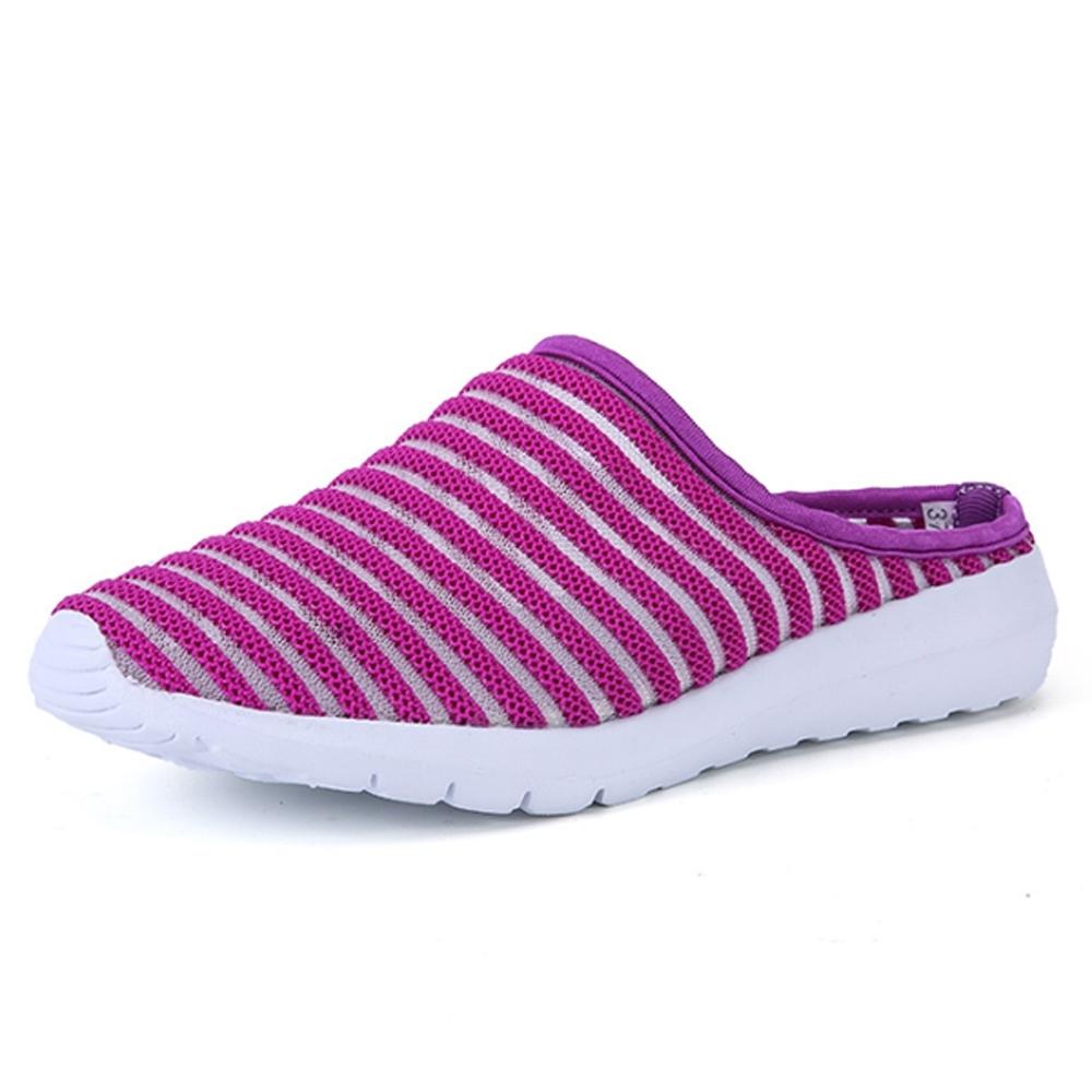 韓國KW美鞋館-橫式線條休閒輕量鞋 紫