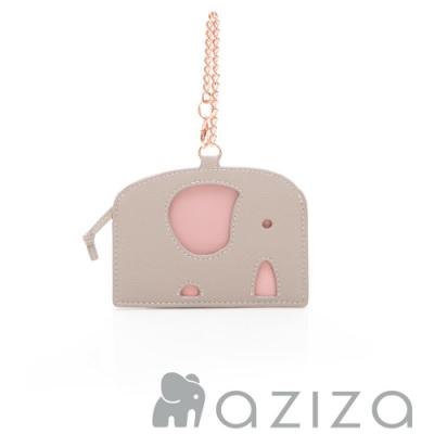 aziza 小象造型票卡夾 灰