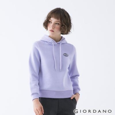 GIORDANO  女裝YOUTH連帽T恤 - 01 石南紫